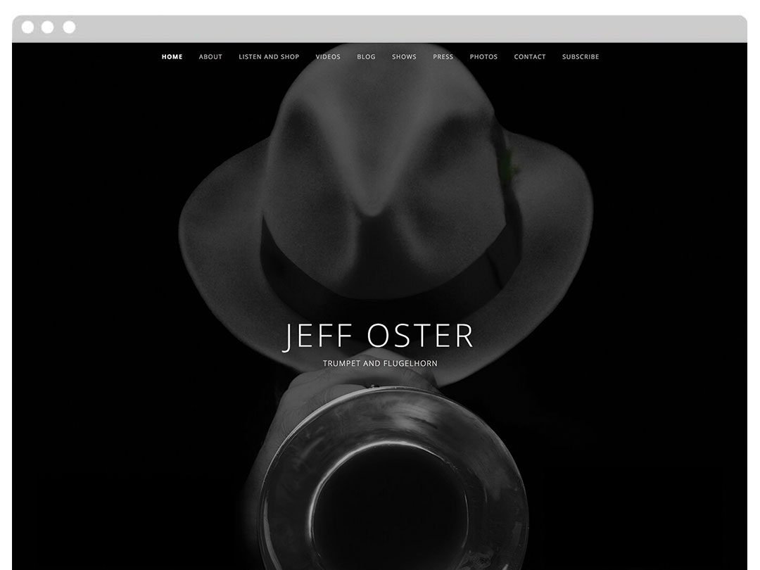 Trumpet Player WordPress Website