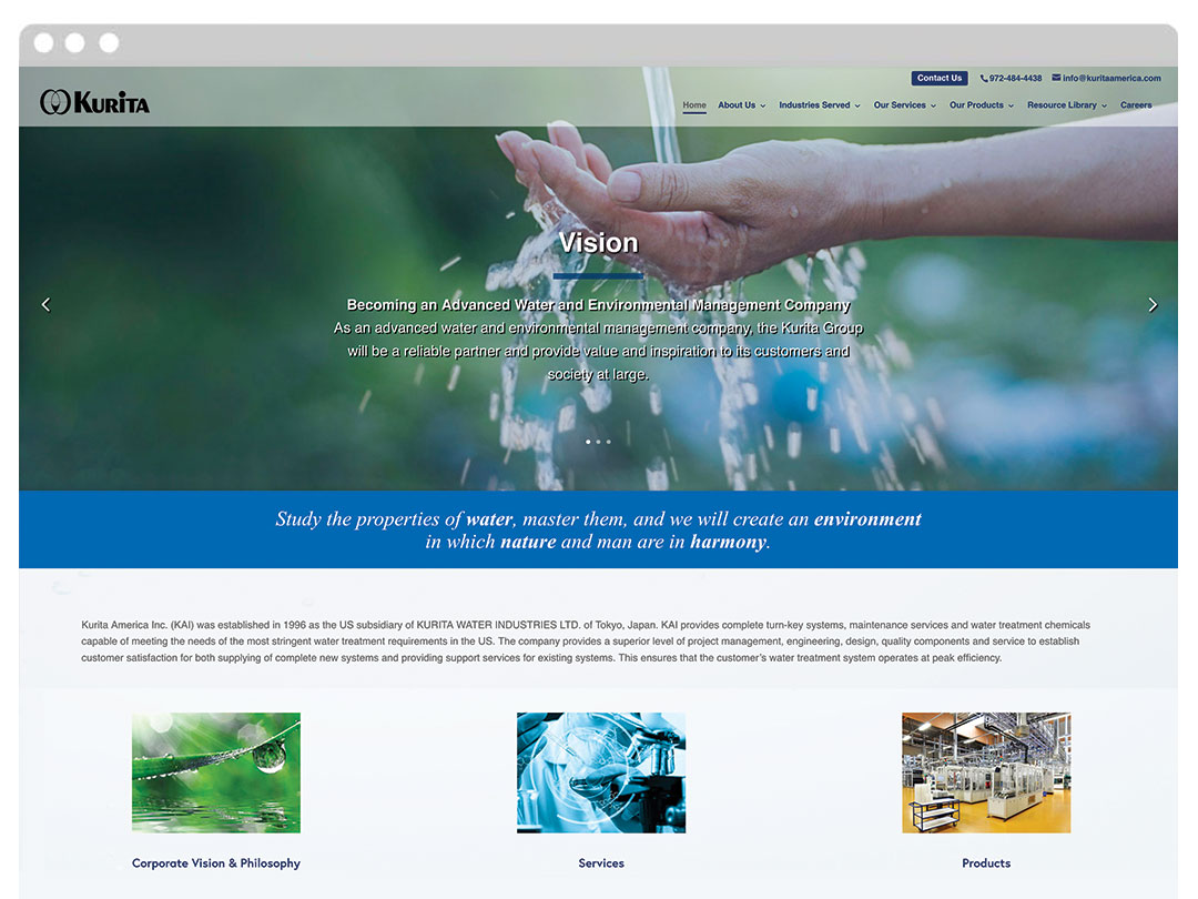 Manufacturing Company Website Design