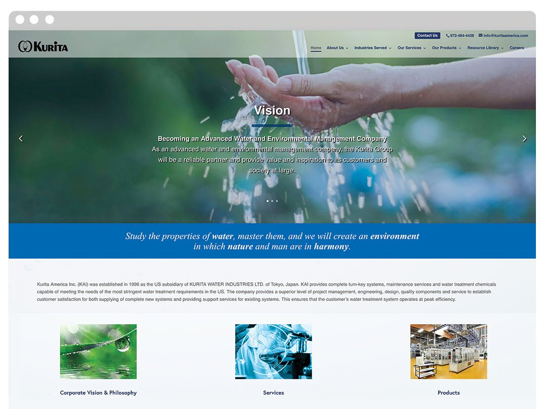 Manufacturing WordPress Website
