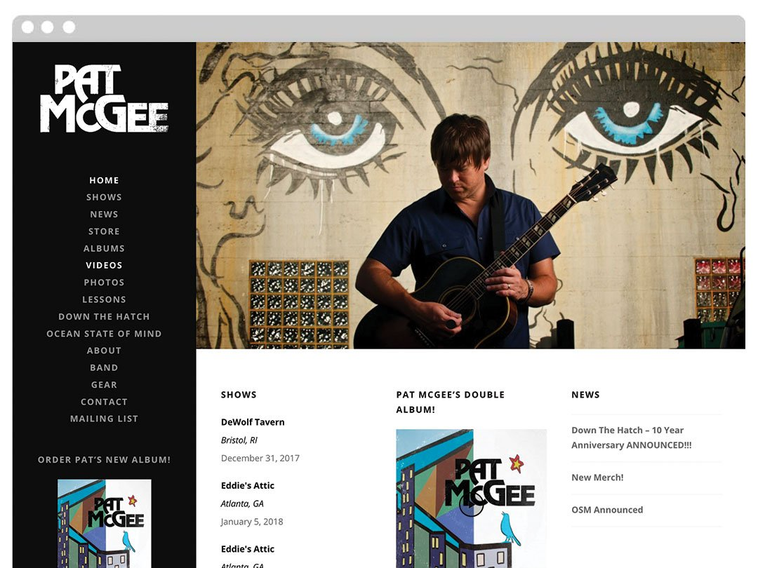 Solo Acoustic Musician WordPress Website