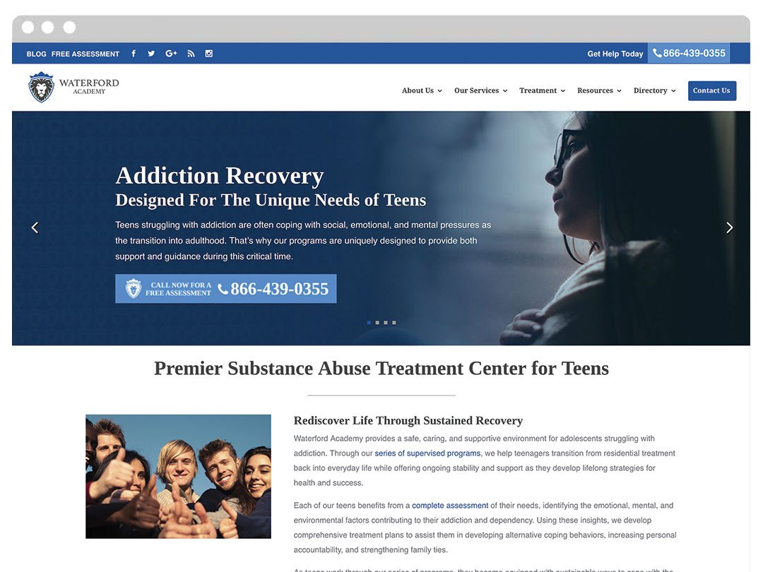 Substance Abuse Counseling WordPress Website